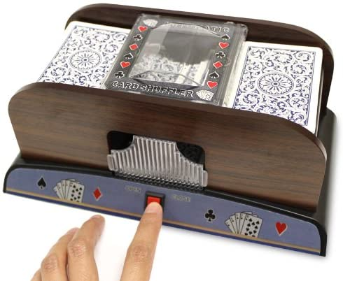 Brybelly Two Deck Wooden Automatic Card Shuffler