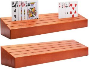 Exqline Wood Playing Card Trays