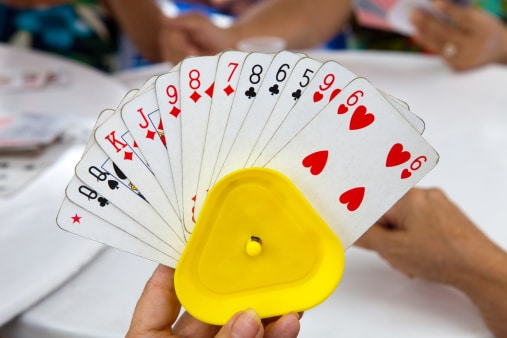 Playing Card Holder in Hand